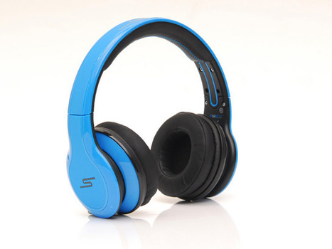 Eye-catching SMS Sync by 50 Cent Wireless Over-Ear Headphones Blue_hellobeatsdreseller.com | SMS SYNC By 50 Wireless | Scoop.it