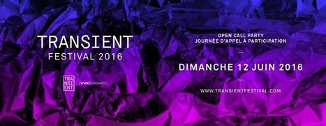 TRANSIENT FESTIVAL : Open #Call 2016 @ Futur en Seine Off | Digital #MediaArt(s) Numérique(s) | Scoop.it