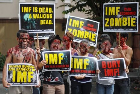 Zombie Protest marks visit of IMF Chief to Manila | Activism, Protest, Citizen Movements, Social Justice | Scoop.it