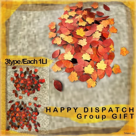 Fall Leaves Subscriber Gift by Happy Dispatch | Teleport Hub - Second Life Freebies | Second Life Freebies | Scoop.it