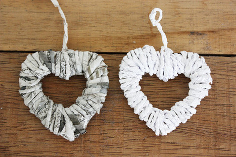 DIY Paper Heart Ornaments | Kids Craft | Scoop.it
