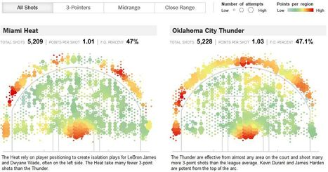 Spatial Analysis of the NBA Finals | Maps are Arguments | Scoop.it