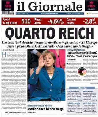 Portada de diario italiano enfurece a políticos alemanes | Periodismo a secas | Scoop.it