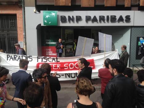 [En images] Métro, BNP Paribas, TNT : actions surprises des opposants à la loi Travail à Toulouse | Sortir de l'économie libérale : l'économie sociale et solidaire | Scoop.it