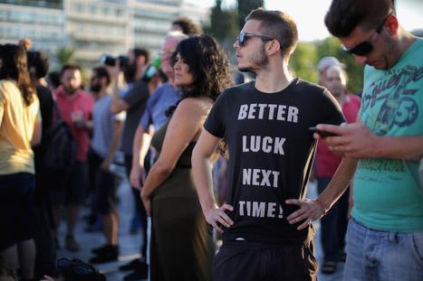 La manifestazione contro Tsipras ad Atene - Il Post   Il tatuaggio di stoffa   Scoop.it