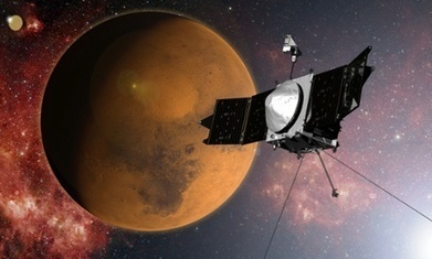Nasa's Maven spacecraft arrives in Mars orbit after 442m-mile journey | Physics as we know it. | Scoop.it
