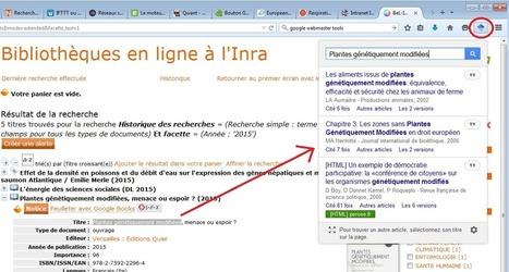 Google scholar : extension Firefox et Chrome   Observatoire des technologies de l'IST   Recherche d'information et bibliothéconomie   Scoop.it