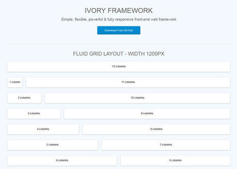 IVORY - A simple, flexible and fully responsive grid based framework | Current Updates | Scoop.it