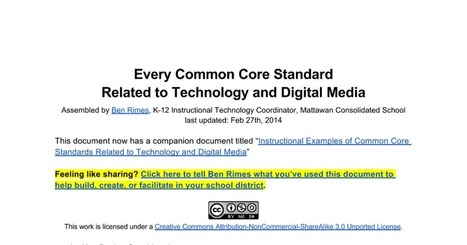 Common Core Standards Related to Technology & Digital Media   Technology and Education Resources   Scoop.it