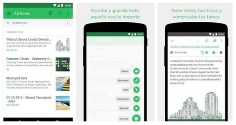 6 aplicaciones Android para realizar anotaciones en clase | El rincón de mferna | Scoop.it