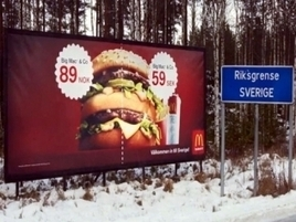 McDonald's Sweden Taunts Norway With Big Mac Billboard at the Border | inspiration | Scoop.it