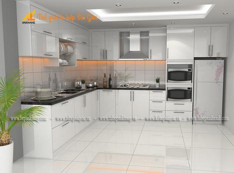 Tủ bếp gỗ tự nhiên chị CHI TBAK383. | Tủ bếp, Bếp An Khang tạo dấu ấn cho ngôi nhà VIỆT 0839798355 | Scoop.it