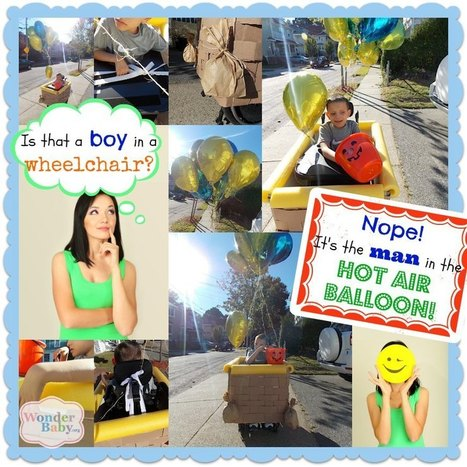 Hot Air Balloon Wheelchair Costume | Parenting Children who are Blind or Visually Impaired | Scoop.it