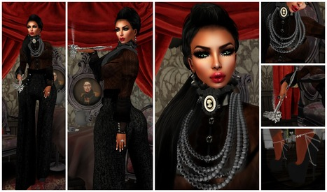 LOOK 409 ~Dark Beauty~ featuring {Indyra} Couture, ICONIC, Ooh-la-licious, and more! | Beauty○Style○Internet○Music | Scoop.it