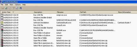 "LastActivityView, cuéntame como pasó ~ Security By Default | ""Computação Forense"" | Scoop.it"