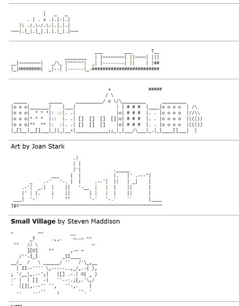 ASCII Art Cities - ascii-code.com | ASCII Art | Scoop.it