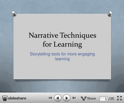 Narrative Strategies for Learning | Usable Learning | Into the Driver's Seat | Scoop.it