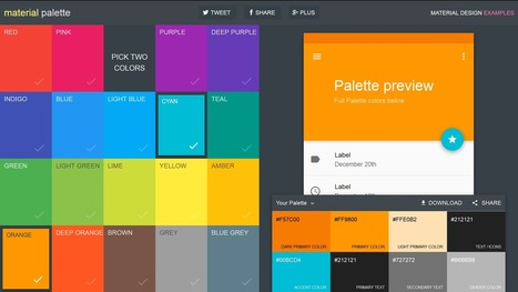 9 Useful Tools for Creating Material Design Colour Palettes | Hire Virtual Employee | Scoop.it