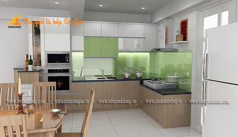 Tủ bếp gia đình chị Hòa TBSG007.   bepankhanggiare   Scoop.it