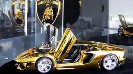 Mini-golden Lamborghini goes on display in Dubai | Cars | Scoop.it