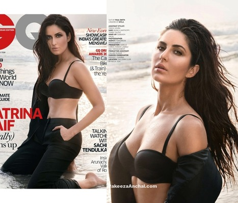 Katrina Kaif in Black Lingerie by MYLA Shirt by Ralph Lauren | Indian Fashion Updates | Scoop.it