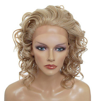 Lace Front Stylish Medium-length Curly Blonde Heat-resistant Synthetic Wig – WigSuperDeal.com | Party Wigs | Scoop.it