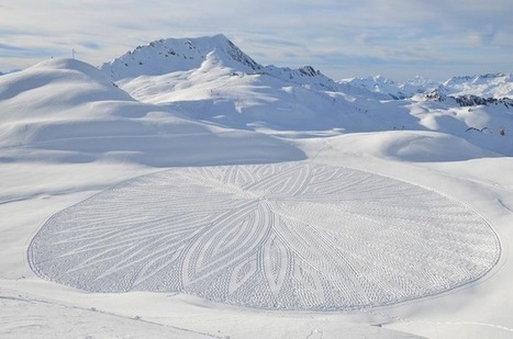 Man Walks All Day to Create Massive Snow Patterns (Part 3) | Le It e Amo ✪ | Scoop.it