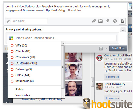 Les Pages Google+ maintenant dans HootSuite | eTourisme - Eure | Scoop.it