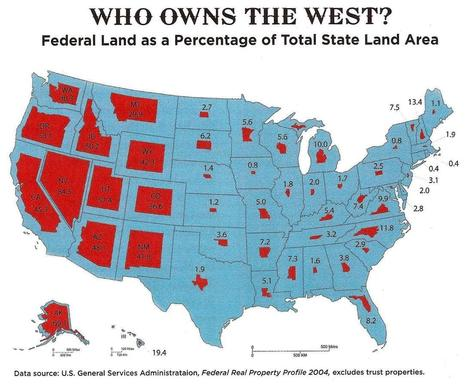 Federal Land as a Percentage of Total State Land Area... | AP Human Geography Petrides | Scoop.it