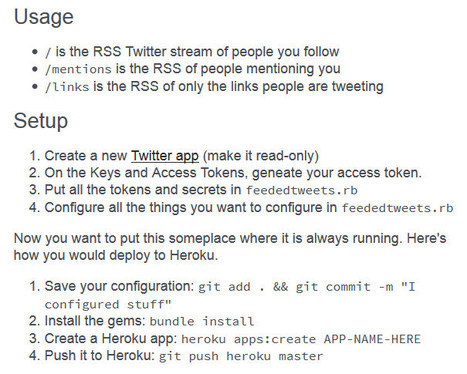 FeededTweets: create a Twitter app to get a RSS feed from users you follow | RSS Circus : veille stratégique, intelligence économique, curation, publication, Web 2.0 | Scoop.it
