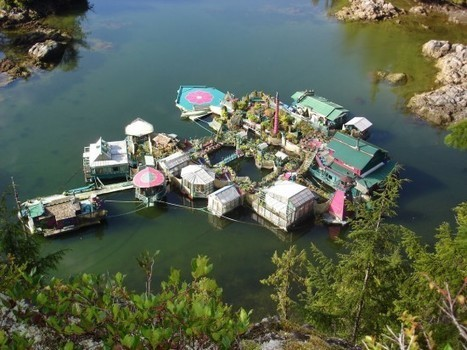 Canadian Couple Live on Amazing Man-Made Floating Complex Miles Away from Civilization | Strange days indeed... | Scoop.it