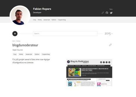 MakerSlate : le CV en ligne dédié aux développeurs et designers - Blog du Modérateur | SocialWebBusiness | Scoop.it