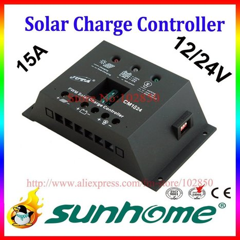 Aliexpress.com : Buy 15A,12/24V auto solar system controller,solar panel charge controller,solar system charge regulator from Reliable solar panel controller suppliers on Sunhome Technology Co.,Ltd | 40% off From Sunhome techonology | Scoop.it