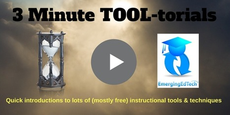 3 Minute Teaching TOOL-torials — Emerging Education Technologies via Kelly Walsh | Moodle and Web 2.0 | Scoop.it