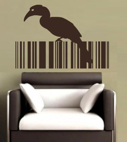 BIRD BARCODE 8 WALL ART STICKER MEDIUM VINYL DECAL | 2D Barcodes Today | Scoop.it