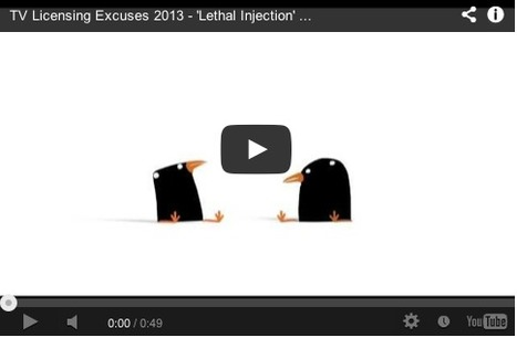 The stolen TV, the lethal injection and other licence excuses animated... | Art for art's sake... | Scoop.it