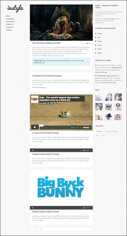 30 Responsive WordPress Themes - tripwire magazine | Inside HTML5 | Scoop.it