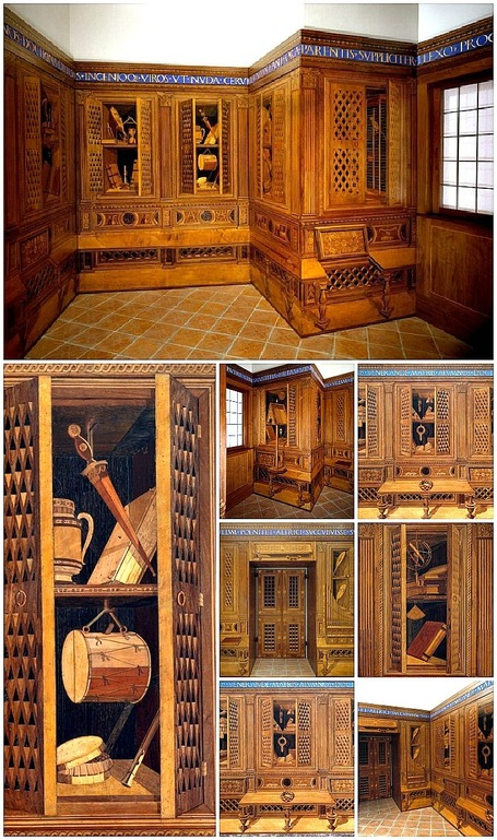 "Studiolo of Federico da Montefeltro  - ""The finest Italian Renaissance room in America"" 