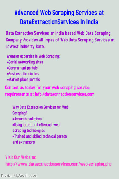 Web Data Extraction Company in India on PosterMyWall | Data Extraction | Scoop.it