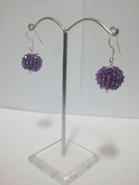 CZ earrings lavender - Daphne Bazaar | Ruby AD Pendant and Earrings | Scoop.it
