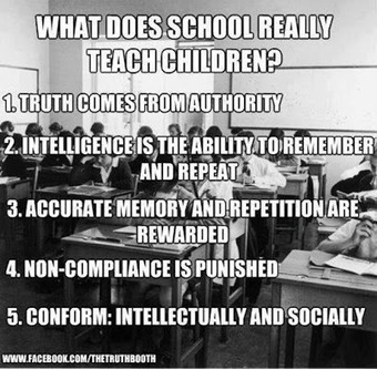 Knowledge of Today: What Does School Really Teach Children? | AUSTERITY & OPPRESSION SUPPORTERS  VS THE PROGRESSION Of The REST OF US | Scoop.it