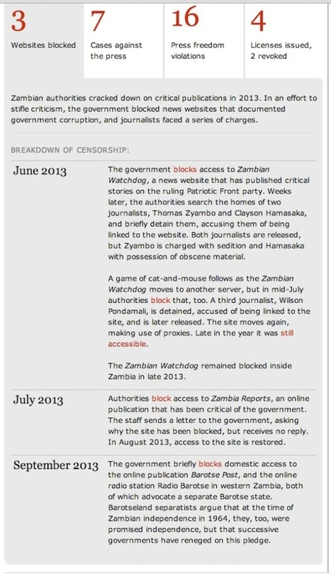 Zambia among worst press freedom violators in 2013 - Zambian Watchdog | NGOs in Human Rights, Peace and Development | Scoop.it