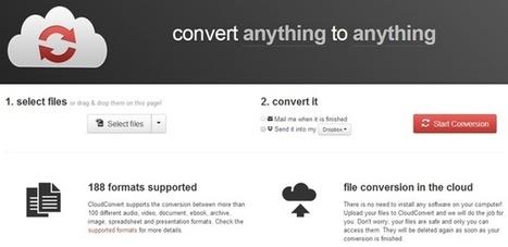 CloudConvert, herramienta para convertir archivos online | Herramientas digitales | Scoop.it