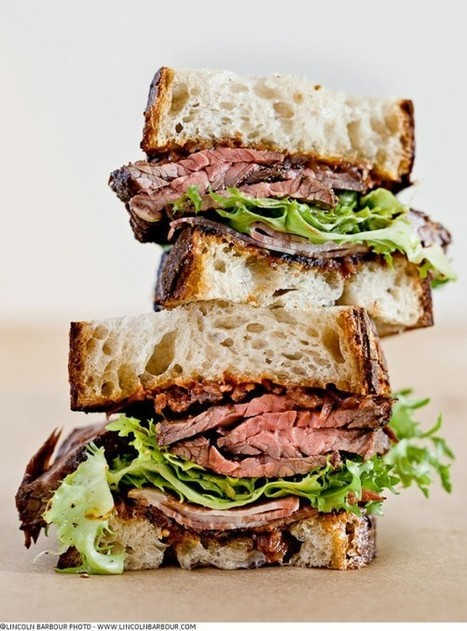 #Recipe / Grilled Hanger Steak & Applewood Smoked Shoulder Bacon Sandwich With Frisee & Red Onion Jam | So, He Dumped You... Eat Some Cake. | Scoop.it