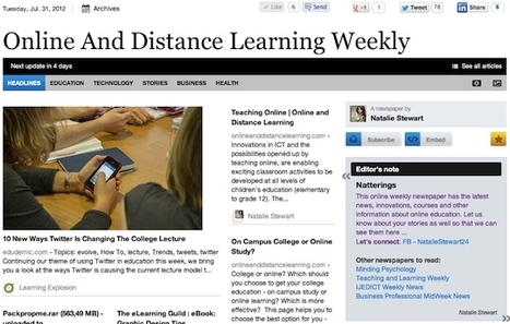 July 31 - Online And Distance Learning Weekly | Studying Teaching and Learning | Scoop.it