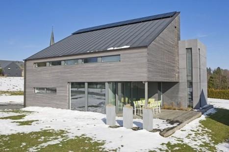 Trois volumes pour une maison passive à Libramont (Belgique) | Le flux d'Infogreen.lu | Scoop.it