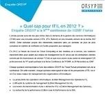 « Quel cap pour ITIL en 2012 ? » Enquête ORSYP à la 9ème conférence de l'itSMF France - leBlogORSYP | Contrôle de gestion & Système d'Information | Scoop.it