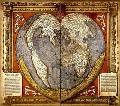 Heart-Shaped Maps - Valentine Primary Sources | Design in Education | Scoop.it