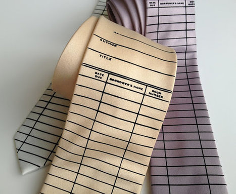 Library Card necktie. Check out card / Date Due Slip tie. Silkscreened men's tie. Perfect librarian, writer, author, bookish gift. | Libraries | Scoop.it