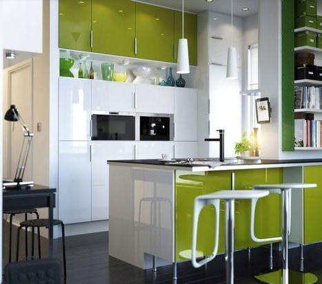 Highly Contemporary Green Ikea Kitchen Ideas | www.pottyflipusa.com | interior design inspirations | Scoop.it